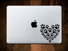 Meow.....super cute cat paws heart vinyl decal for your laptop or car window from @nebraskavinyl  NebraskaVinylis a lighthearted company focused on cute and fun decals for Laptops and Car Windows that show your personal interests. You can also find some pretty cool wall decal art in this shop so have a look.  WWW.NEBRASKAVINYL.ETSY.COM