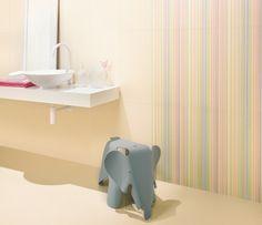 Por que los niños también pueden tener baños bonitos. Colección Champanhe de Revigres