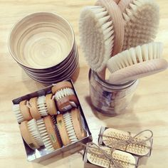 Keeping it all natural #bamboo #bodybrush #neutrals