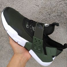 on sale 41f6c 152ff New 2018 NIke Air Huarache Drift PRM Men s Running Sports Shoes Army Green  AH7334 300