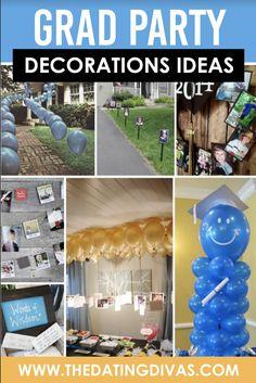 Grad Party Decoration Ideas- sooooo many fun ideas! Backyard Retaining Walls, Graduation Gifts, Graduation Ideas, Grad Party Decorations, Romantic Anniversary, Graduation Photography, Dating Divas, Party Pictures, Grad Parties
