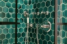 Hexagon-tiles Victorian Tiles, Feature Tiles, Hexagon Tiles, Door Handles, Ceramics, Gallery, House, Home Decor, Door Knobs