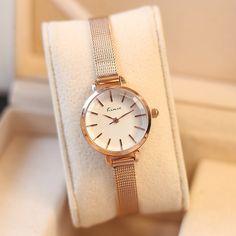 6e2584d1f71 Barato Marca de Luxo KIMIO Relógios Das Mulheres Casuais Vestido da Forma  das Mulheres de Aço