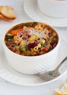 Homemade-Minestrone-Soup-{Slow-Cooker}-9 | Little Spice Jar | Flickr