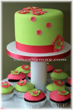 Google Image Result for http://www.cakesbymay.com/Cupcakes/Pink_LimeGreen0001.jpg