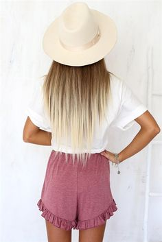 This hair is the perfect balance between blonde and brunette if you're not sure on which way you want to go. Gorgeous color