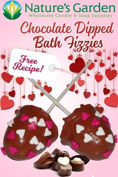 Free Chocolate Dipped Bath Fizzie Recipe by Natures Garden