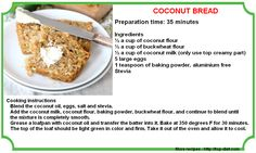 Coconut Bread recipe to get rid of Candida