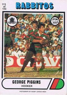 George Piggins Rugby League, Great Team, Football Team, Sydney, Hero, Club, Baseball Cards, Sports, Hs Sports