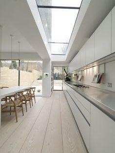 Kattoikkuna ja keittiön linjakkuus