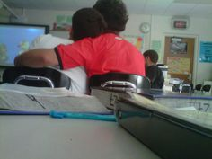 the two hottest guys in my class are sitting like this right now IM SO DONE