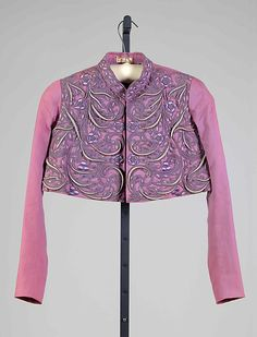 Jacket, Evening.  House of Schiaparelli  (French, 1928–1954).  Designer: Elsa Schiaparelli (Italian, 1890–1973). Date: spring 1938. Culture: French. Medium: Wool, silk.