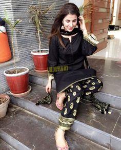 blackkk Woman Knitwear and Sweaters nasty woman dog sweater Simple Pakistani Dresses, Pakistani Fashion Casual, Pakistani Bridal Dresses, Pakistani Dress Design, Pakistani Outfits, Indian Dresses, Indian Outfits, Indian Fashion, Emo Outfits