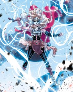 Russell Dauterman is an illustrator and character designer, best known as the artist of the Marvel comic book series, THE MIGHTY THOR. Marvel Comic Universe, Marvel Comics Art, Marvel Comic Books, Comics Universe, Marvel Heroes, Marvel Women, Avengers Women, Thor Marvel, Marvel Comic Character