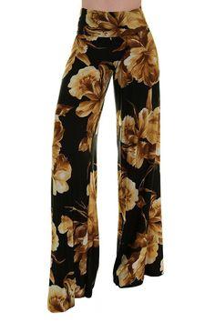 High Waist Fold Over Wide Leg Gaucho Palazzo Pants (Natural Blossom) Wide Leg Palazzo Pants, Printed Palazzo Pants, Wide Leg Pants, Harem Pants, Next Fashion, Fashion Outfits, Tall Women, Lounge Pants, Pants For Women
