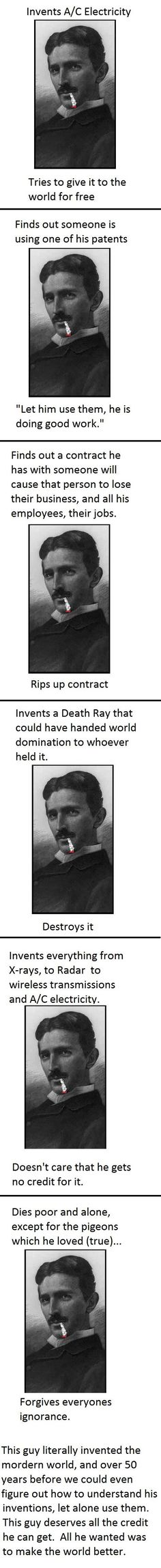 "Good Guy Tesla. Unfortunately, his ""death ray"" technology has been in use for some time to torture and kill without leaving a trace. See Vic Livingston (On Human Rights) and Jesse Ventura's ""Death Ray"" episode. In a strange twist inventor Dr. Fred Bell, who Jesse interviews on the segment, died under suspicious circumstances just after returning to his hotel after filming."