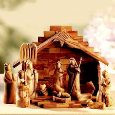 12-Piece Olive Wood Nativity Set in nativity sets at the home of creative kitchenware, Lakeland