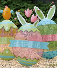 Easter Egg Garden Sign Set by Transpac Imports #zulily #zulilyfinds