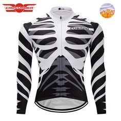 Crossrider 2018 Cycling Jersey MTB clothing Bike men Ropa Ciclismo Thermal  fleece Bicycle clothing Long sleeves 4c7cf968e
