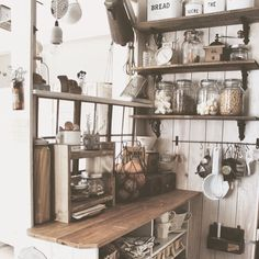 Everything has its place Cozy Kitchen, New Kitchen, Kitchen Dining, Kitchen Decor, Diy Interior, Kitchen Interior, Room Interior, Interior Design, Kitchen Display Cabinet
