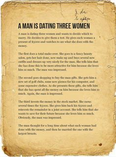 Story of a Man Dating Three Women