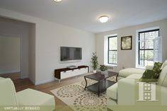 Upper Manhattan, NYC 3BR Virtually Staged. Click to see unstaged.