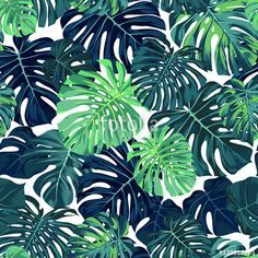 Purchase Black Jungle Green Pattern with Monstera Palm Leaves on Dark Summer Tropical Design Blue Tree Wall Art Hanging Tapestry inch from Ann Pekin Pekin on OpenSky. Palm Background, Dark Blue Background, Background Patterns, Tropical Fabric, Tropical Design, Hanging Tapestry, Hanging Wall Art, Dark Summer, Dark Blue Green