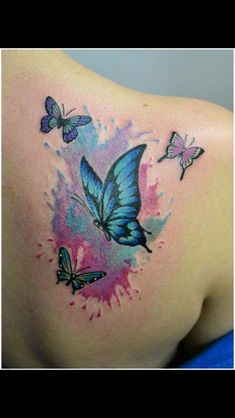 Watercolor butterfly tattoo seahorse tattoo, dragonfly tattoo, back tattoos, future tattoos, new Watercolor Butterfly Tattoo, Butterfly Tattoo Cover Up, Butterfly Tattoo Meaning, Butterfly Tattoo On Shoulder, Butterfly Tattoos For Women, Butterfly Tattoo Designs, Dragonfly Tattoo, Seahorse Tattoo, Watercolor Tattoos