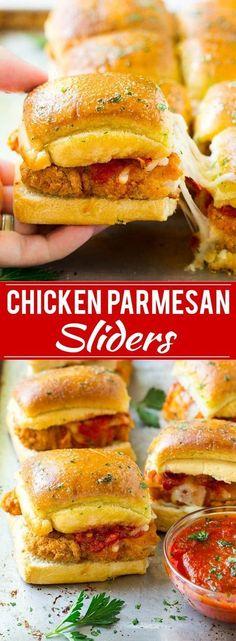 Chicken Parmesan Sliders | Chicken Parmesan Sandwich Recipe | Slider Sandwich Recipe