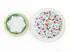 Set of 3 Vintage Plates / Floral and Gold China by ChapsAndRascal