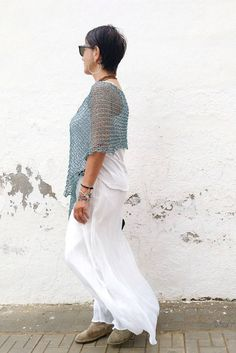 Chal de algodón top de mujer de verano chal para boda | Etsy Summer Cover Up, Thin Ribbon, Ribbon Yarn, Wide Pants, Poncho Sweater, The Chic, Lace Skirt, Summer Dresses, Wedding Dresses