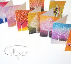 Tarjetas de Navidad pintadas a mano. http://calpearts.blogspot.com.es/p/blog-page_31.html