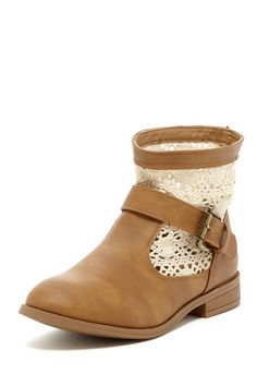 Lace Booties by Charles Albert