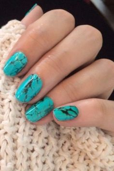 DIY marble nail inspiration