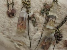 reinette et mirabelle bottle necklaces.