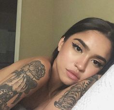 For more daily pins follow me @marleenamecc Goals, Nice, Chicas Tumblr, Tattoos, Flowers, Instagram, Beauty, Linda, S Tattoo