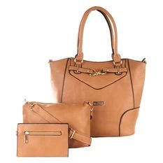 27be4d6cf60 Elena 5390A Shoulder Bag with Sling Bag and Wallet (Apricot) Online Price