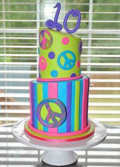 Hope's Sweet Cakes: Peace Sign Cake