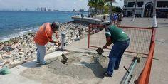 Rehabilitan zonas peatonales en el centro de Puerto Vallarta