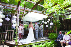 A Backyard Garden Ceremony