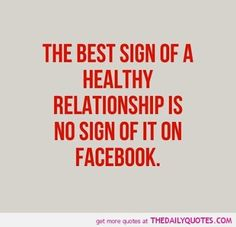 Facebook Quote | From the Daily Quote via the Funny Technology - Community - Google+ | #relationships #facebook #RelationshipAdvice