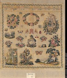 A 19th Century GERMAN Sampler Signed By CSH & Dated 1832