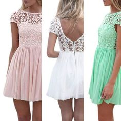 Sexy Chiffon Lace Mini Dress   Daisy Dress for Less   Women's Dresses & Accessories
