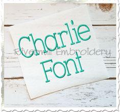 $3.95Charlie Machine Embroidery Font Alphabet