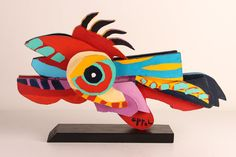 "1 KAREL APPEL sculpture multiple ""Flying Fish"""