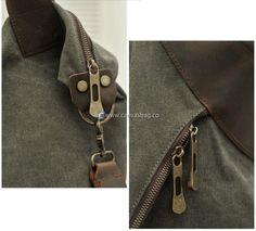 Large Capacity Shoulder Bag Leather Canvas Bag (18)
