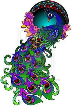 Peacock Tattoo by Metacharis.deviantart.com on @deviantART
