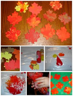 Autumn Leaf Crafts inspired by Red Leaf, Yellow Leaf by Lois Elhert