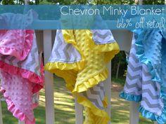 Chevron minky blanket