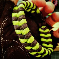 Neon Green and Black Fishtail #Paracord #Survival #Bracelet by UltimateAdventureCo on Etsy